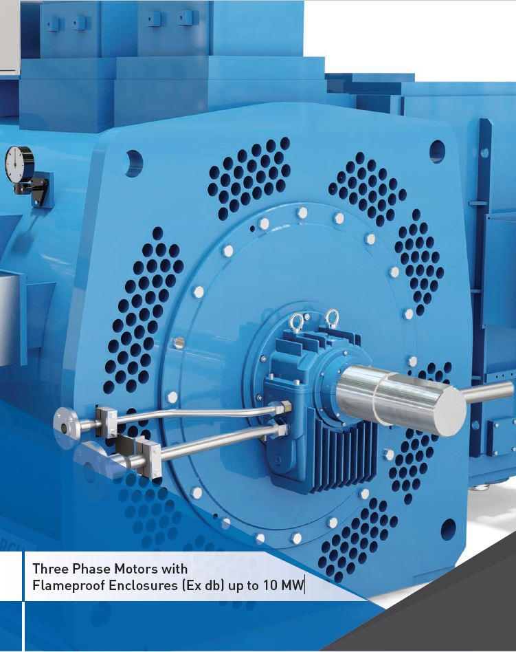 Three Phase Motors with Flameproof Enclosures (Ex db) up to 10 MW